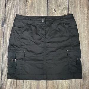 WHBM black cargo skirt size 4